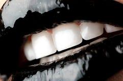 Languettes noires Photo stock