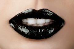 Languettes noires Photo libre de droits