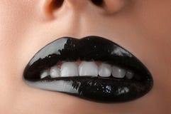 Languettes noires Images libres de droits