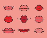 Languettes rouges Photographie stock libre de droits