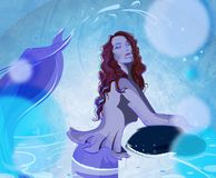 The Languid Woman royalty free illustration