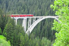 Langwiesser高架桥。 库存图片