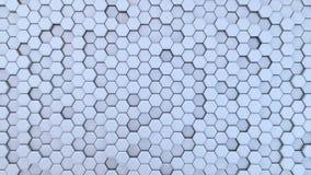 Langzaam Veranderende Hexagonale Achtergrond, Naadloze het Van een lus voorzien 3d Animatie, 4K zoek meer opties in mijn portefeu vector illustratie