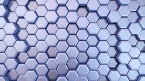 Langzaam Veranderende Mooie Hexagonale Achtergrond, Naadloze het Van een lus voorzien 3d Animatie, 4K zoek meer opties in mijn po vector illustratie
