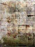Langzaam verdwenen antieke affiche Stock Afbeeldingen