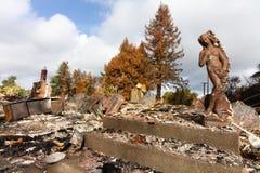 Langzaam verdwenen Schoonheid - 2017 Sonoma-Wildfires van de Provincie royalty-vrije stock foto's
