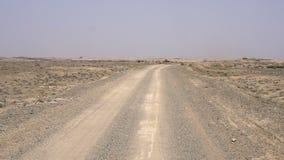 Langzaam Verkeer op Woestijnweg stock videobeelden