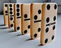 langzame domino's Royalty-vrije Stock Foto's