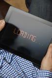 Langzame Internet-Verbinding op Digitale Tablet Stock Fotografie