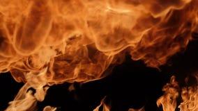 Langzame motie van brandontploffing stock video