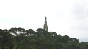 Langzame uitzoomen van Santuario San Salvador Christ de Koning stock video