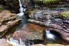 3 langzame Watervallen Royalty-vrije Stock Afbeeldingen