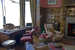 Lanhydrock domu dymienia pokój Zdjęcie Royalty Free