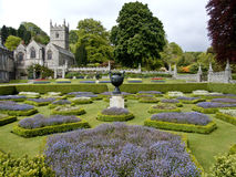Lanhydrock gardens and church Stock Photos