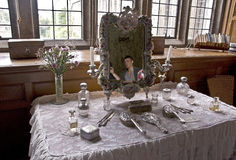 Lanhydrock  House Her Ladyship's Dressing Table Stock Image