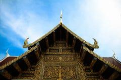 Lanière de Wat Phra That Sri Chom, province de Chiangmai, Thaïlande Photo libre de droits
