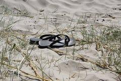 Lanières dans le sable Images libres de droits