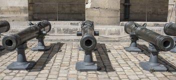 Lani metali działa Muzeum wojsko Fotografia Stock