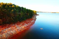 Lanier Shoreline. Island on Atlanta& x27;s Lake Lanier shoreline royalty free stock photo