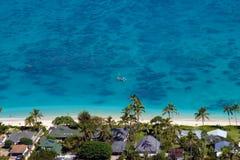 Lanikai Beach. A sunny day on Lanikai Beach, Hawaii, United States Royalty Free Stock Photo