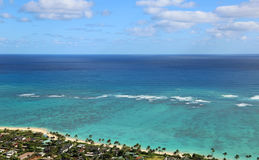 Lanikai Beach from Kaiwa Ridge Royalty Free Stock Photography