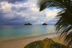 Lanikai beach in the late afternoon Royalty Free Stock Photo