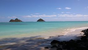 Lanikai Beach in shadow stock video