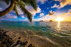 Lanikai Beach Sunrise. Sunrise from the world famous Lanikai Beach in Kailua Royalty Free Stock Image
