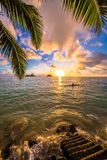 Lanikai Beach Sunrise stock image