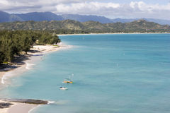 lanikai oahu της Χαβάης παραλιών Στοκ εικόνες με δικαίωμα ελεύθερης χρήσης