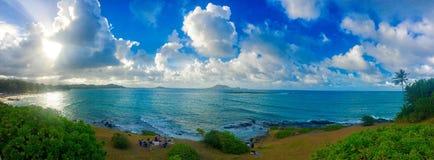 Lanikai point. View over lanikai beach on Oahu Hawaii Royalty Free Stock Image