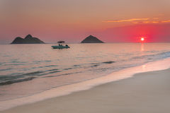 Lanikai Sunrise Royalty Free Stock Photo