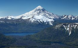 Lanin Volcano, Lakes District Royalty Free Stock Images