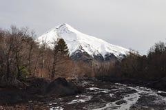 Lanin volcano, Patagonia Stock Images