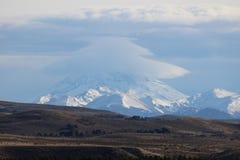 Lanin vulkan Arkivfoto