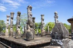lanka mandapa nissankalata polonnaruwa sri 免版税库存照片