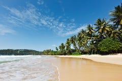 lanka plażowy idylliczny sri zdjęcie stock