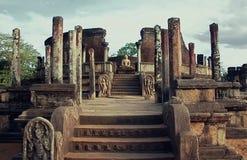 lanka polonnaruwa sri watadage 免版税库存照片
