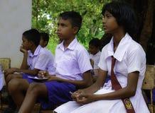 lankan学生sri 免版税图库摄影