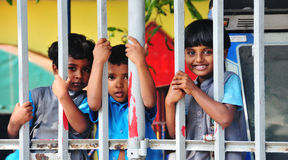 Lankan children in the kindergarten school Royalty Free Stock Image