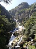 Lankan Wasserfall Sri Stockfoto