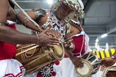 传统lankan音乐家的sri 免版税图库摄影