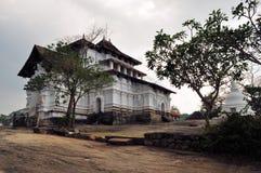 Lankathilake hill temple in Sri Lanka. Old white-washed Lankathilake temple on a hill in Sri Lanka Royalty Free Stock Photography