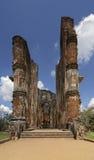 Lankatilaka寺庙在Polonnaruwa,斯里兰卡 库存图片