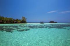 Lankayan Island. Resort at daytime in Borneo, Malaysia Stock Photos