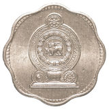 2 lankijczyk rupii centów moneta Obrazy Royalty Free