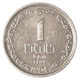 1 lankijczyk rupii centów moneta Obrazy Royalty Free