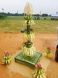 Lankijczyk tradyci nafciana lampa obraz royalty free