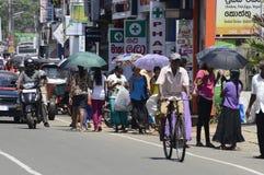 Lankijczyk ulicy scena Obraz Royalty Free