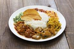 Lankijczyka curry'ego i ryż naczynie obraz stock